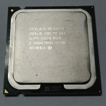 Proc intel core2duo 2,33.ghz e6550 tray w/o fan (1thn) - k-galaxy.com